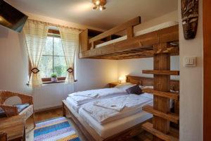 Vila Sekvoj - ubytování Harrachov - pokoj 2 - postel