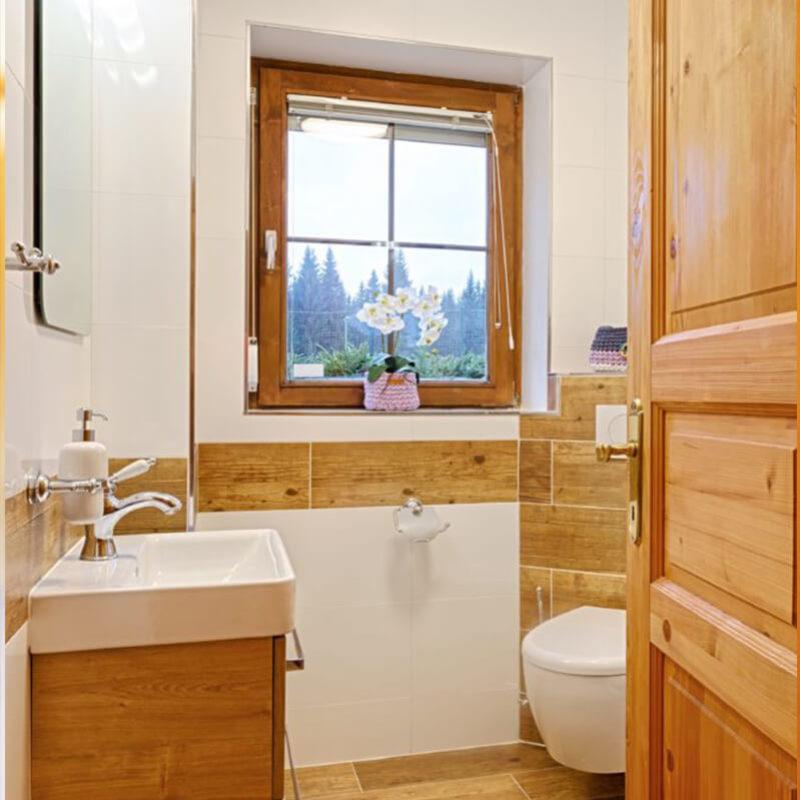 Vila Sekvoj - ubytování Harrachov - pokoj 2 - koupelna