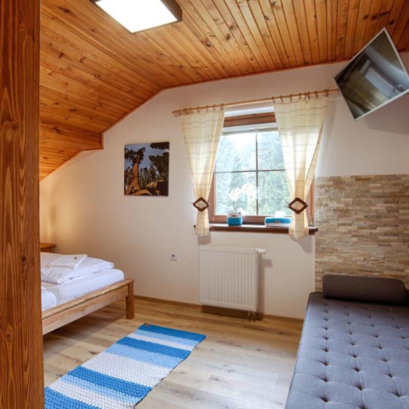 Vila Sekvoj - ubytování Harrachov - pokoj 3